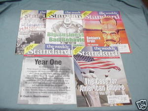 5 Issues of The Weekly Standard Magazine 1997-2002