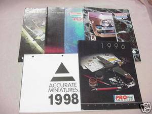 5 Monogram Catalogs & 1998 Accurate Miniatures Catalog