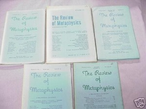5 The Review of Metaphysics Magazines 1952-1953
