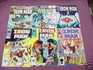 6 Iron Man Marvel Comics 158, 176, 199, 201, 203, 207