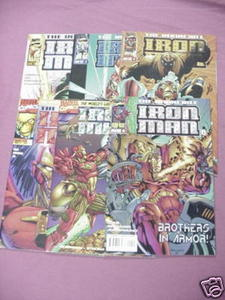 6 Iron Man Vol. 2 Comics #2, #7, #8, #9, #11, #13