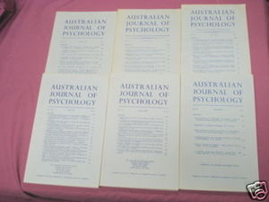 6 Issues Australian Journal of Psychology 1965-1970