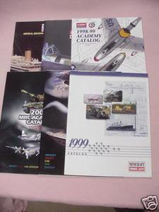 6 Minicraft + Academy Model Catalogs 1995-2001