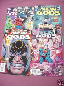 6 The Death of the New Gods Comics #1, 2, 3, 4, 6, 8