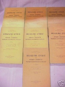 7 1930s/40's Issues Bibliographie Generale IN FRENCH