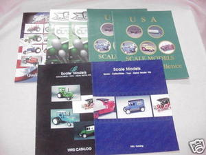 7 1990's Scale Models Diecast Kits Catalogs Die-Cast