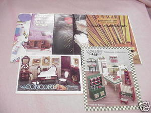 7 Dollhouse Catalogs Concord, Amaco