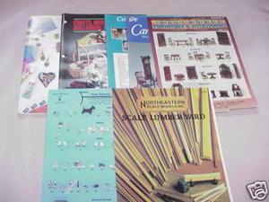 7 Dollhouse Catalogs Ginsburg, Amaco, Farrow Industries