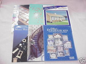 7 Dollhouse Catalogs MiniGraphics, Amaco