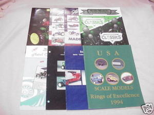 8 1990's Scale Models Diecast Kits Catalogs Die-Cast