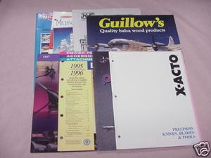 8 1990s Hobby Catalogs Guillow's, Midwest