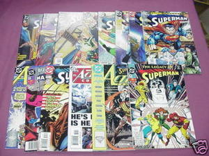 8 DC Comics Doomsday Wars #3, Legacy #1, Superboy #1 ++