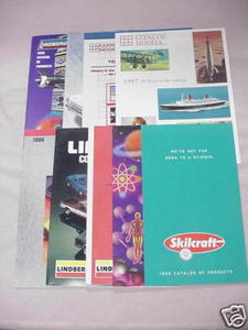 8 Model & Paint Catalogs Lindberg, Glencoe, Skilcraft
