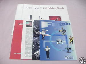 8 Radio Control Catalogs Carl Goldberg, Futaba RC