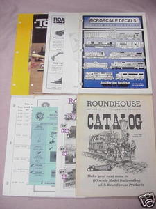 9 Model Railroading Catalogs Microscale, Roundhouse