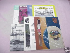 9 Model Railroading Catalogs MRC, Kadee + Panavise