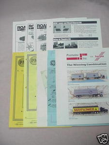 9 Model Railroading Catalogs Xuron, GHQ, Promotex