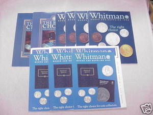 9 Whitman Coin Book and Supplies Catalogs
