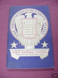 A Book of the Presidents 1971 First Federal Savings SC