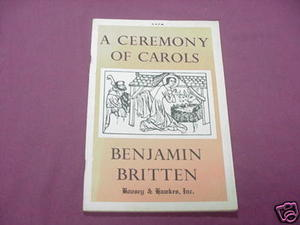 A Ceremony of Carols by Benjamin Britten 1956 Music SC