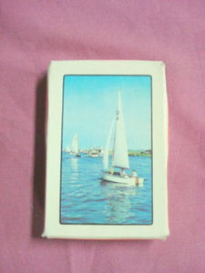 A Class Sailboat Souvenir Plastic Coated Playing Cards