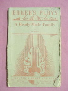 A Ready-Made Family Baker's Plays 1934 Play Booklet