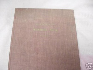 A Treasury of American Song 1940 HC Olin Downes