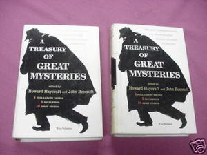 A Treasury of Great Mysteries 2 Vol. Set 1957 Haycraft