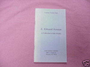 A. Edward Newton Oak Knoll Books Catalog Number Eight