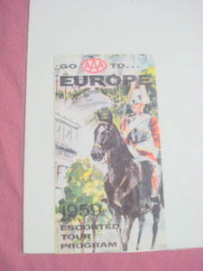 AAA Cunard Ocean Liner 1959 Europe Travel Brochure
