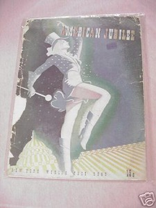 American Jubilee Program New York World's Fair 1940