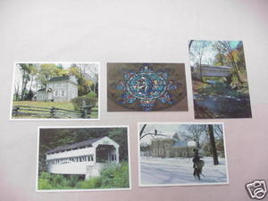 Assortment of Five Valley Forge Pa. Postcards