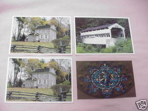 Assortment of Four Valley Forge Pa. Postcards