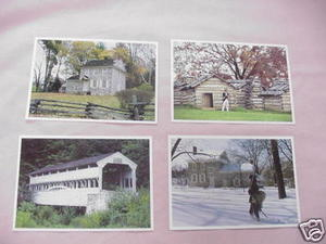 Assortment of 4 Valley Forge Pa. Postcards