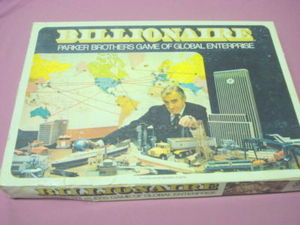 Billionaire 1973 Parker Brothers Global Enterprise Game