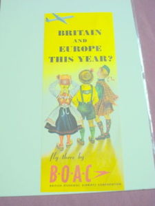 BOAC 1958 Travel Brochure British Overseas Airways