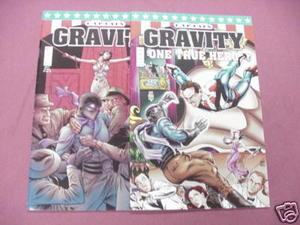 Captain Gravity Penny Farthing Press Comics #1, and #4