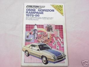 Chilton's Auto Manual Omni Horizon Rampage 1978-1986
