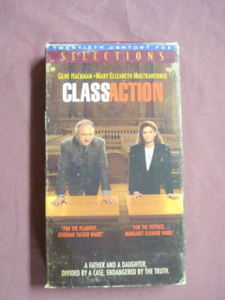 Class Action VHS 1990 Law Drama Gene Hackman