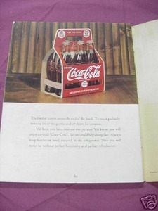 Coca-Cola 1942 Promo Booklet Homes and Flowers
