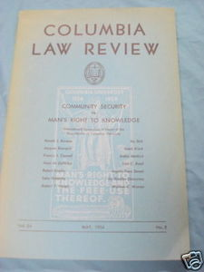 Columbia Law Review May, 1954 Vol. 54, No. 5