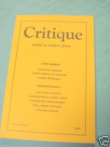 Critique Studies in Modern Fiction Aug 1976 John Hawkes