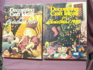 Decorating Craft Ideas for Christmas 1983 & 1984-2 H/Cs