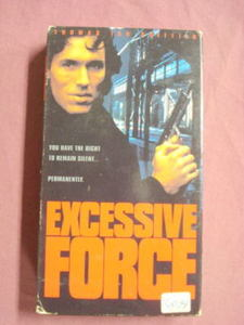 Excessive Force VHS Crime Drama Thomas Ian Griffith