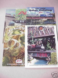 Five 1990's Model Railroad Catalogs Atlas, Bachmann