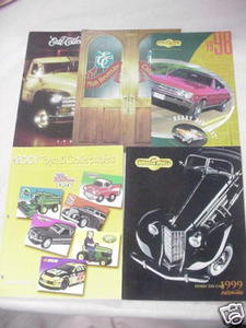 Five 1997-2001 Ertl Diecast Catalogs Die-Cast