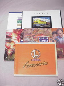 Five Lionel 1990's Model Railroad Catalogs