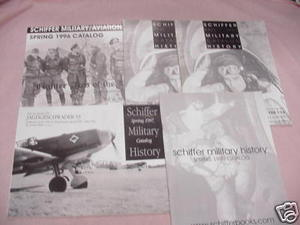 Five Schiffer Military Books Catalog 1996-1999