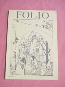 Folio Magazine Fall 1963 Poetry Magazine Brandeis Univ.