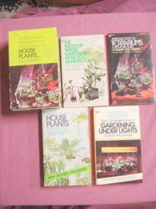 Four 1970's House Plants Paperbacks with Cardboard Case